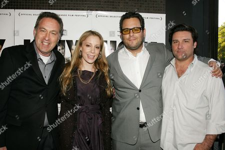 Stock Image of Gary Rubin (Pres. First Independent Films), Jennifer Gatien, Kevin Asch (Director) with guest