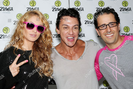 Paulina Rubio, Beto Perez (Zumba Creator, Co-Founder) and Alberto Perlman (CO-Founder Zumba)