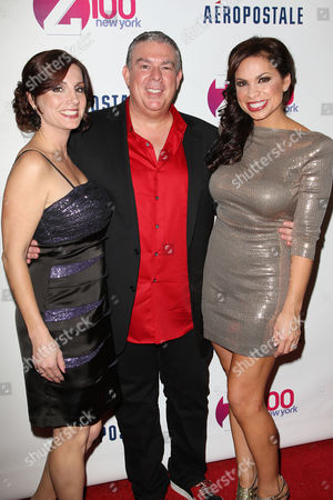 Danielle Monaro, Elvis Duran and Carolina Bermudez