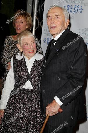 Leah Adler and Kirk Douglas