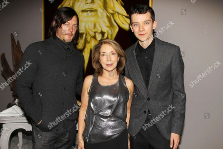 Norman Reedus, Paula Wallace and Asa Butterfield