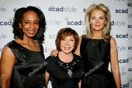 Stock Picture of Robin Givhan , Paula Wallace and Cornelia Guest