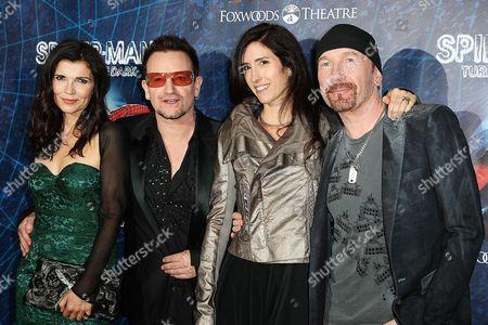 Alison Hewson, Bono (Paul Hewson), Morleigh Steinberg and The Edge (David Evans)