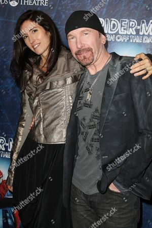 The Edge (David Evans) and wife Morleigh Steinberg