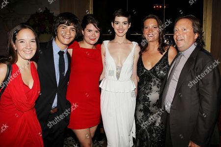 Anne Hathaway, Peggy Gelfond and Richard Gelfond (CEO, IMAX)