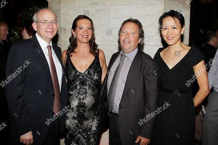 David Leebron, Richard Gelfond (CEO, IMAX), Peggy Gelfond and Y.