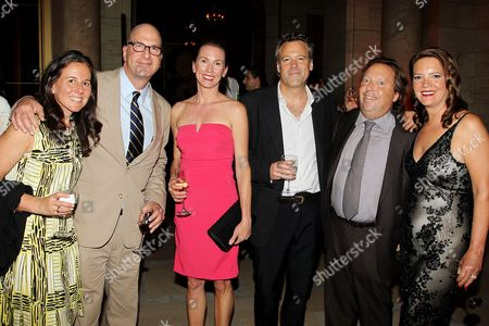 Stock Picture of Greg Foster with wife Marcy Foster, Wally Pfister with wife, Richard Gelfond (CEO, IMAX) and Peggy Gelfond