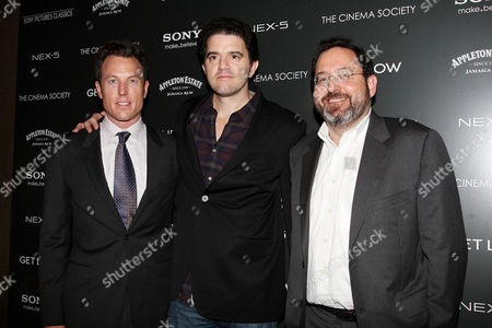 Stock Photo of Dean Zanuck (Producer), Aaron Schneider (Director) and Michael Barker (Sony Pictures Classics co-president)