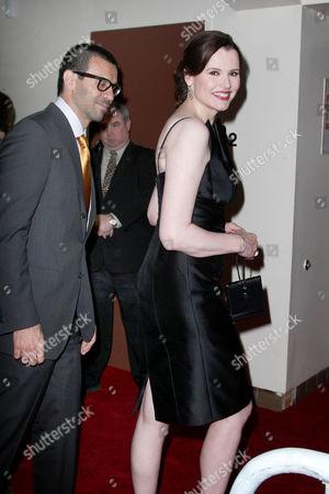Geena Davis with husband Dr. Reza Jarrahy