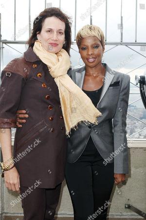 Daniella Vitale (Gucci America President) and Mary J. Blige