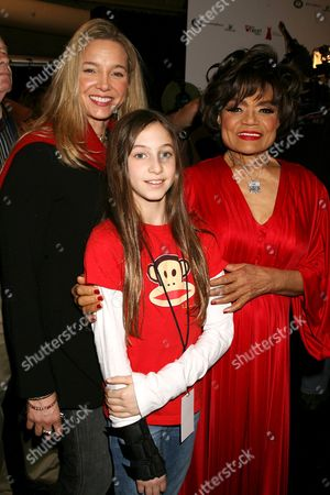 Eartha Kitt with family