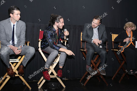 Nicholas Braun, Ezra Miller and Kyle Patrick Alvarez (Director)