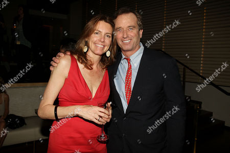 Stock Picture of Producer Clara Bingham and Robert F Kennedy Jr.