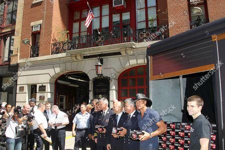 Tim McGraw and NYC Fire Commissioner Salvatore Cassano
