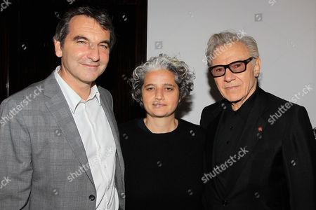 Nicola Giuliano, Viola Prestieri and Harvey Keitel