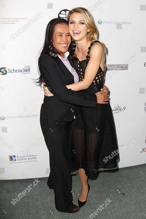 Somaly Mam and AnnaLynne McCord