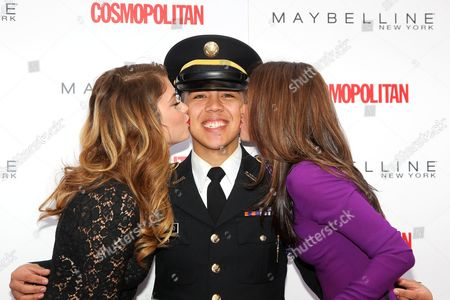 Stock Image of Ashley Benson, Cadet Lyle Regalado (Fordham University ROTC),