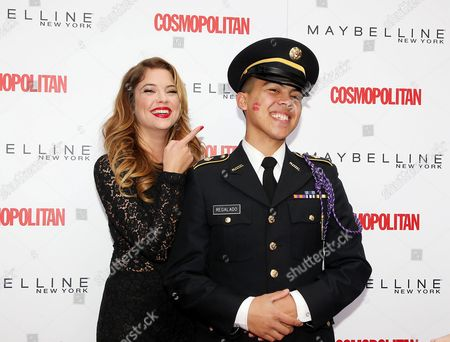 Editorial image of Ashley Benson at 'Cosmo Kisses for the Troops' event, New York, America - 11 Nov 2013