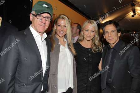Woody Johnson, Suzanne Johnson, Christine Taylor and Ben Stiller