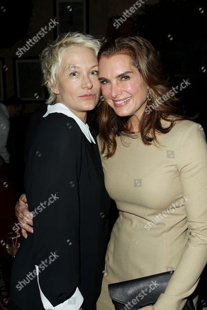 Nancy Jarecki and Brooke Shields