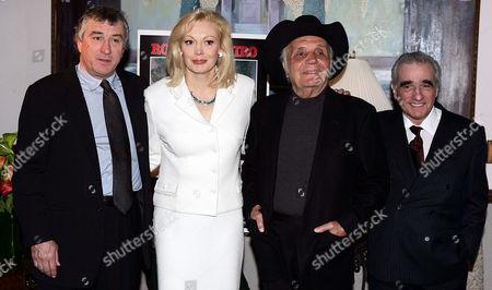 Robert De Niro,Cathy Moriarty, Jake LaMotta and Martin Scorsese