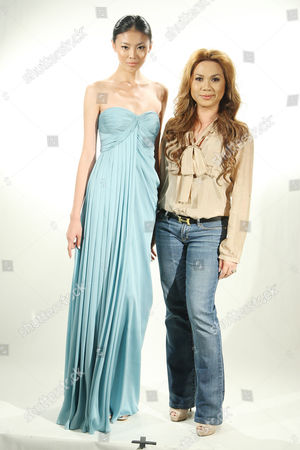 Farah Angsana with model wearing her collection