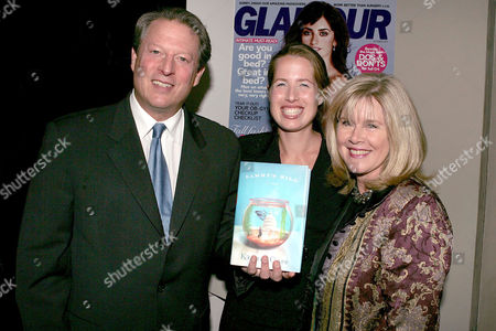 Al Gore with Kristin Gore and Tipper Gore