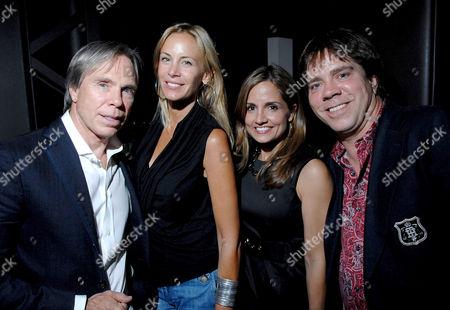 Tommy Hilfiger, Dee Ocleppo, Kim Hilfiger and Andy Hilfiger
