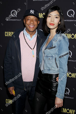 Stock Picture of Russell Simmons, Angie Hsu