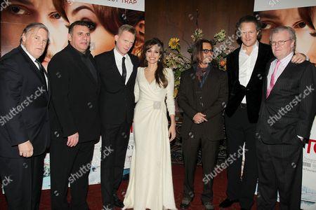 Tim Headington, Graham King, Paul Bettany, Angelina Jolie, Johnny Depp, Florian Henckel Von Donnersmarck and Sir Howard Stringer
