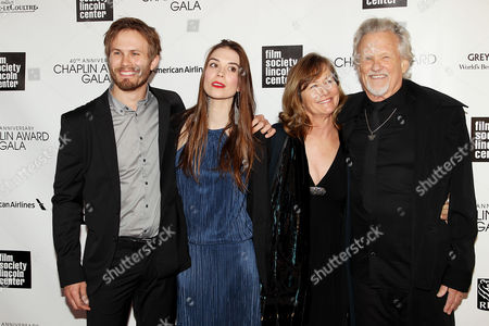 Stock Picture of Jesse Kristofferson, Kristy Alexander, Lisa Kristofferson and Kris Kristofferson