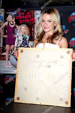 Editorial image of Lindsay Gort Handprint Ceremony at Planet Hollywood Times Square, New York, America - 22 Oct 2013