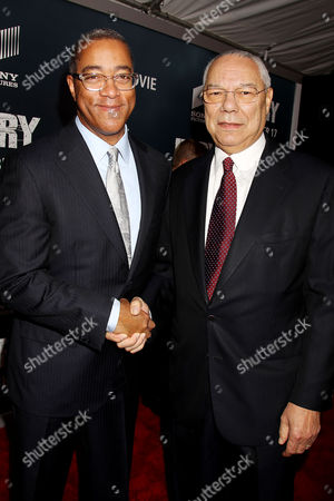 Dwight Caines and Colin Powell