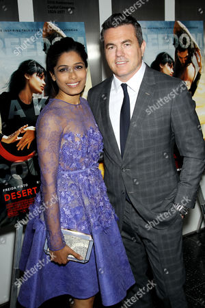 Freida Pinto, Tucker Tooley (Pres. Relativity Studios)