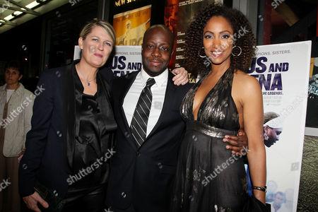 Wyclef Jean, Maiken Baird and Michelle Major