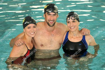 Whitney Phelps, Michael Phelps and Hilary Phelps