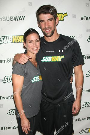 Whitney Phelps and Michael Phelps