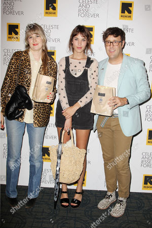 Tennessee Thomas, Alexa Chung and Andrew Bevan