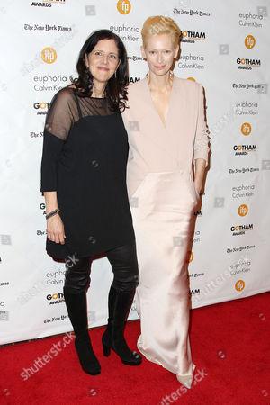 Kirsten Johnson and Tilda Swinton