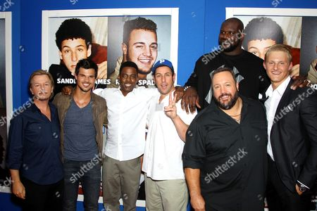 David Spade, Taylor Lautner, Chris Rock, Adam Sandler, Shaquille O'Neal, Kevin James and Alexander Ludwig