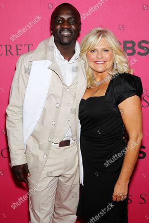 Stock Image of Akon and Sharon Turney