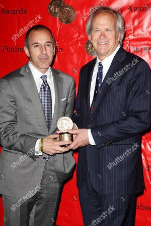Matt Lauer and Dick Ebersol