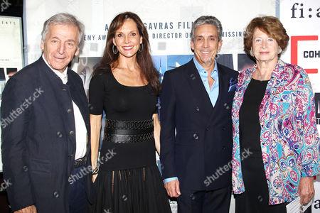 Stock Picture of Costa-Gavras (Director; Capital), Chloe Cohen, Charles Cohen, Ma