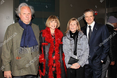 Graydon Carter, Anna Wintour, Anna Scott and Colin Firth