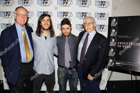 Stock Picture of Nick Pileggi, Max Bernstein, Jacob Bernstein (Director), Carl Bernstein