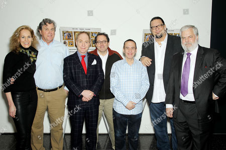 Farley Ziegler (Producer), Tom Bernard (Co-Pres. Sony Pictures Classics), Teller (Director), Michael Barker (Co-Pres. Sony Pictures Classics), Gilbert Gottfried, Penn Jillette (Producer) and Tim Jenison