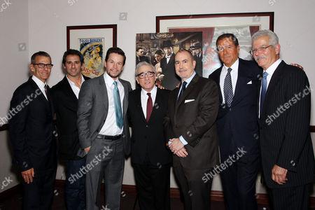 Michael Lombardo, Stephen Levinson, Mark Wahlberg and Martin Scorsese