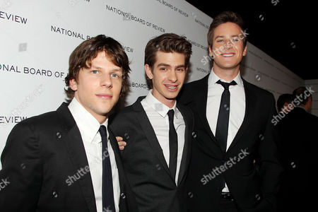 Jesse Eisenberg, Andrew Garfield and Armand Hammer