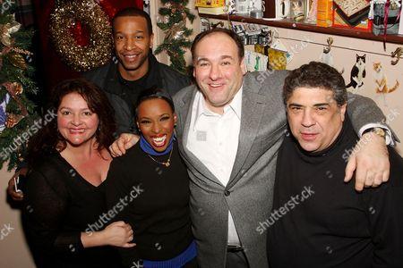 Stock Picture of Aida Turturro (Mama Morton), Brenda Braxton (Velma Kelly), Anthony Van Potten, James Gandolfini,Vincent Pastore (Amos Hart)