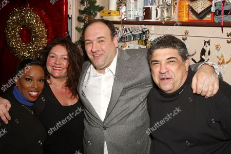 Editorial picture of James Gandolfini stops backstage to see fellow 'Sopranos' actors in the  Broadway musical 'Chicago', New York, America  - 21 Dec 2007